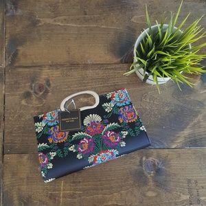 Beautiful Deatiled Floral Handbag